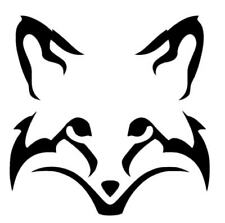 Vinyl Decal Fox Head Silhouette Boats, Windows, Walls, Cars, Trucks, Lap Tops