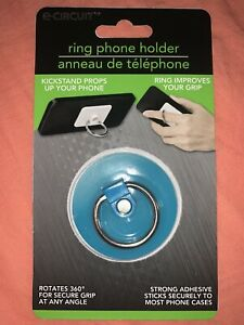 Neon Blue E-Circuit Ring Phone Holder Phone Ring Improves Your Grip Rotates 360
