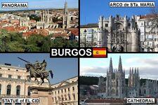 SOUVENIR FRIDGE MAGNET of BURGOS SPAIN