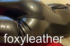 SHINY BLACK SEXY LEATHER LATEX LEDER LOOK  REAL PVC CATSUIT JUMPSUIT NOT RUBBER