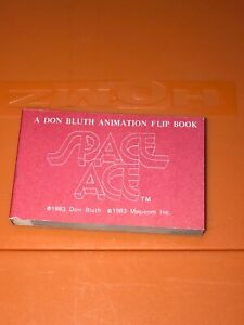 VTG Magicom Don Bluth Animation Flip Book Space Ace Cartoon Red Cover 1983