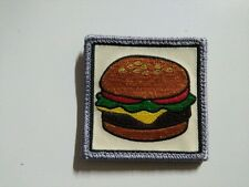 Bobito's Burgers - Cheese Burguer - PATCH - 6x6cm - PARCHE - Hook & Loop backing