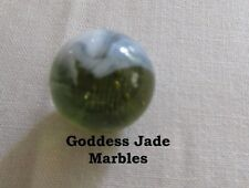 "Antique Christensen Agate Striped Transparent 11/16"" Goddess Jade Marbles"