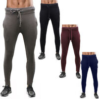 Mens Skinny Smart Fit Tracksuit Bottoms and Popcorn Joggers Sweat Pants