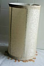 Retro Style Pattern Fabric Beaded Tall  Cylinder   Lamp Shade   Light Home Decor