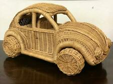 Unusual VINTAGE HAND MADE VW BEETLE Wicker & Bamboo LARGE SIZE