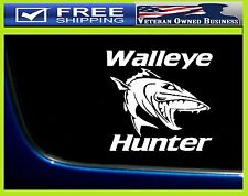 WALLEYE HUNTER VINYL DECAL STICKER VINYL WINDOW Fisherman Hunting Fish TRUCK CAR