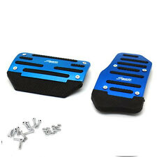 2 Pcs Blue Non Slip Automatic Transmission Pedal Cover Brake Clutch Accelerator