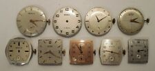 Lot of 9 - Benrus - 7 & 17 Jewels - Manual Wind - Men's Wrist Watch Movements