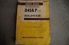 KOMATSU D45 Tractor Dozer CRAWLER Parts Manual book catalog list shop 1977 spare