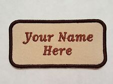 """EMBROIDERY NAME TAG (PERSONALIZED) 2""""x 4"""" PATCH"""