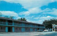 Chrome Oregon Postcard H623 Longhorn Motel Pendleton Old Sign 1960s Cars Street