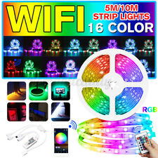 32.8ft LED Smart Home WIFI Wireless RGB Waterproof Strip Neon Light Kit