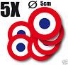 Cocarde Sticker autocollant rond FRANCE Cocarde tricolore  5cm 5 exemplaires