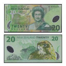 2005 New Zealand Twenty Dollars $20 Polymer Banknote UNC First Prefix AA05  #31