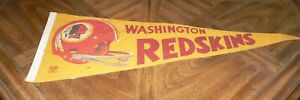 Vintage Washington Redskins pennant