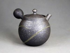 Tokoname Teapot Kyusu by Tokuta, #F-307 : D91*H100mm, 310ml