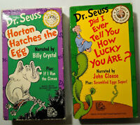 2 VHS lot Dr Seuss Video Classics Did I Ever Tell You How Lucky Are Horton Hatch