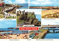 Rare Scenic Postcard Castle/Bay/Castle/Harbour Irish North Coast (July 1975).