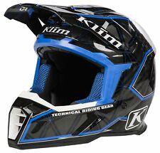 Adult Size XL Klim F5 Demolish Blue Black ECE Helmet Snowmobile Dirt Bike Enduro