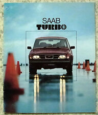 SAAB TURBO Car Sales Brochure 1978 DUTCH TEXT