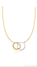 14kt Yellow Gold Oval Necklace. 17