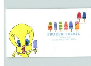 Hand Painted # 1 of 1, TWEETY BIRD on FROZEN TREATS First Day, COLOR CANCEL