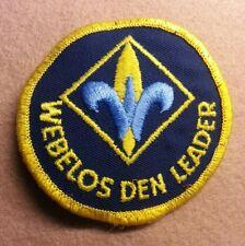 CUB SCOUT WEBELOS DEN LEADER - TYPE C-WDL2 - 1973 - 2007 - PRE-OWNED   B00100