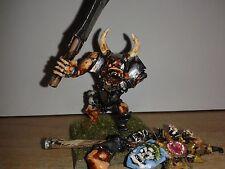 Warhammer Chaos Ogre abanderado-Pintado, METAL, RARO