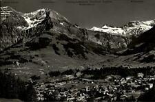 Adelboden Kanton Bern Postkarte 1956 Panorama Blick auf Lohner und Wildstrubel