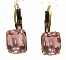 SoHo® Ohrhänger vintage altgold bronze bohemia Glas altrose handgemacht 1960er