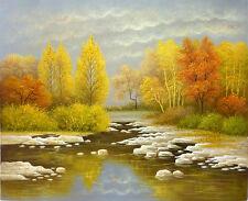 AUTUMN LANDSCAPE Original Oil painting -  Stretched 53x63cm