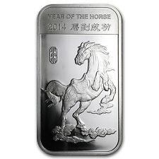 1 oz Silver Bar - APMEX (2014 Year of the Horse) - SKU #77543