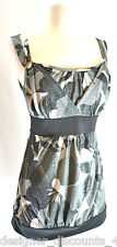 New Volume One  V1Couture Black glitter silver hardware sexy tank top SZ M NWT