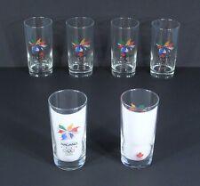 * 6 Genuine 1998 NAGANO Japan Winter OLYMPICS Glasses w/ Team Canada Logo NEW *