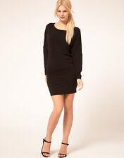 MANGO SLINKY BATWING DRESS BLACK SIZE S(UK8-10)