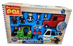 Postman Pat Police Car Greendale Rocket Post Van Figures Ajay Selby Playset New