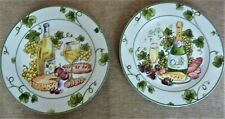 New ListingI. Godinger & Co. Pair Of 8� Appetizer Plates-each With Wine/Cheese Unique.
