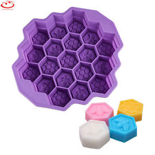 19 Cavity Silicone Bee Honeycomb Mold Cake Chocolate Cookie Soap Candle Mould