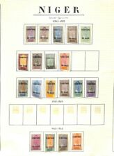 [OP9307] Niger lot of stamps on 11 pages
