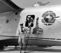 WW2 Photo WWII Disembarking a  PBM Mariner at  Norfolk 1941 World War Two / 7131