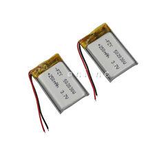 2 pcs Polymer Li po battery 3.7V 250 mAh 502030 for Mp3 Car DVC DVR record pen