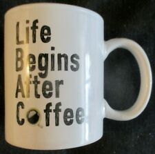 """New listing New """"Life Begins After Coffee"""" Mug * Big 11. Ounce By Home Essentials"""