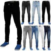 Mens Skinny Jeans Slim Fit Stretch Denim Casual Pants Trousers All Waists 28-40