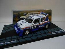 MG METRO 6R4 RALLY RAC 1986 MC RAE EAGLEMOSS IXO 1/43