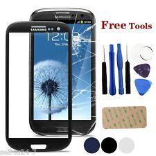 BLACK Samsung Galaxy S3 Mini i8190 Front Outer Lens Glass Touch Screen + Tools
