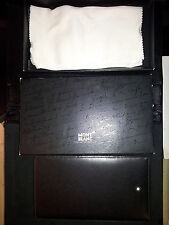 PORTA BIGLIETTI DA VISITA BUSINESS CARD CASE MONTBLANC MONT BLANC BLACK F cod133