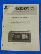 YASKAWA YASNAC LX1 CNC SYSTEM OPERATOR MANUAL TOE-C843-7.21