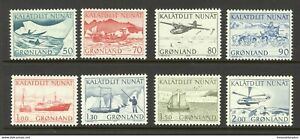 Greenland 1971 - 1977 Mail Transport, Aircraft, Ships, Dog Sled etc. UNM / MNH