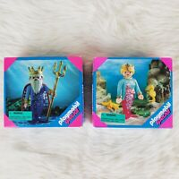 *NEW IN BOX* SEALED Vintage Playmobil Sea King & Queen Mermaid LOT 4545, 4557